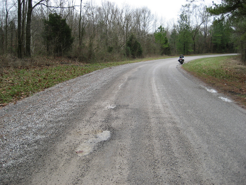 There's an occasional pothole too. Some are big.