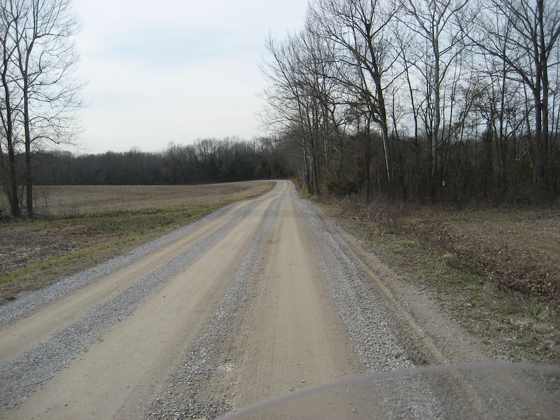 Shultztown Road - Unpaved dirt/gravel. Wide enough for two vehicles. Could be slippery when wet.