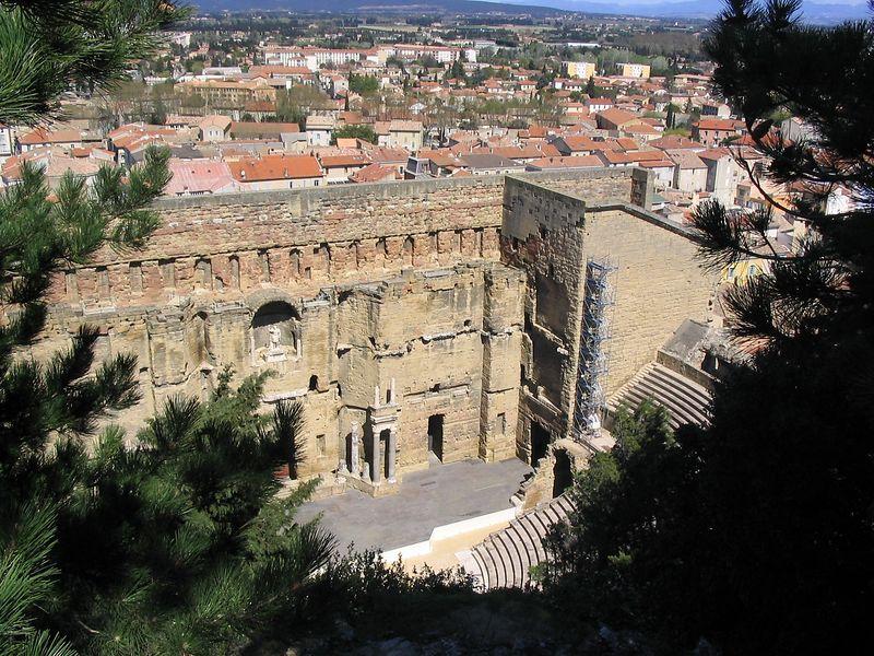 Hilltop view of Roman theatre