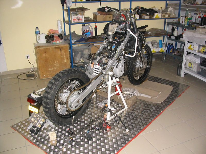 Bike which had competed in the Dakar.