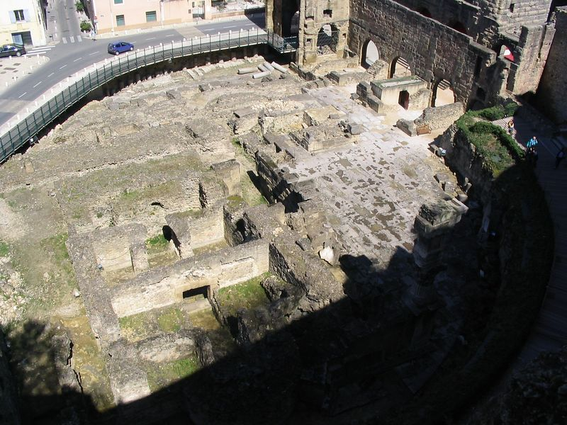 Ruins adjacent to Roman theatre