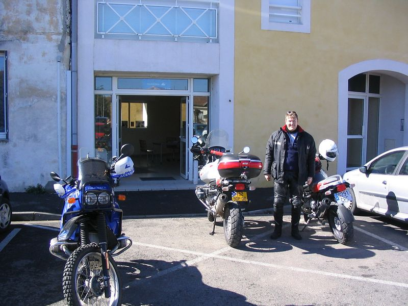 Bob outside the Touratech shop in Orange
