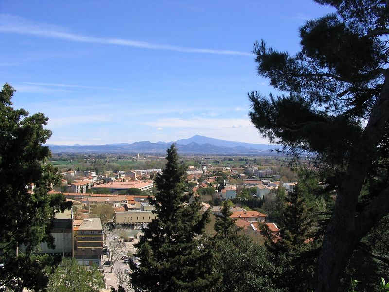 View from same hill looking towards Mt Ventoux