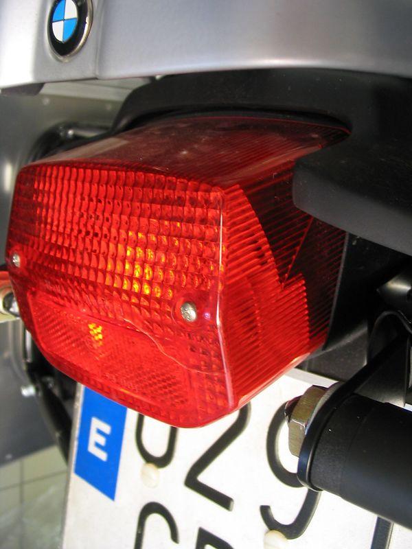 Cracked rear light.