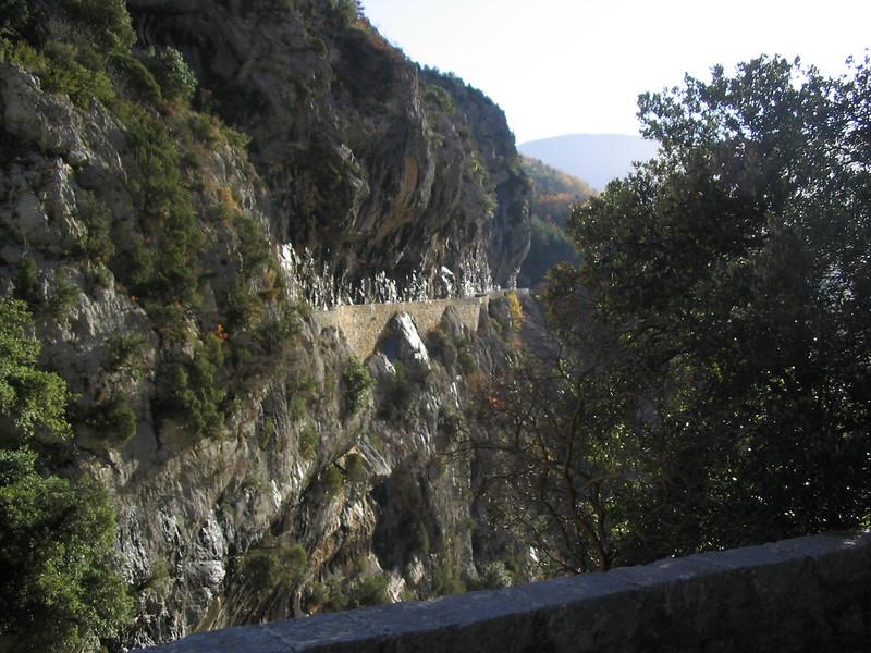 Narrow part of D10, just after Aiglun.
