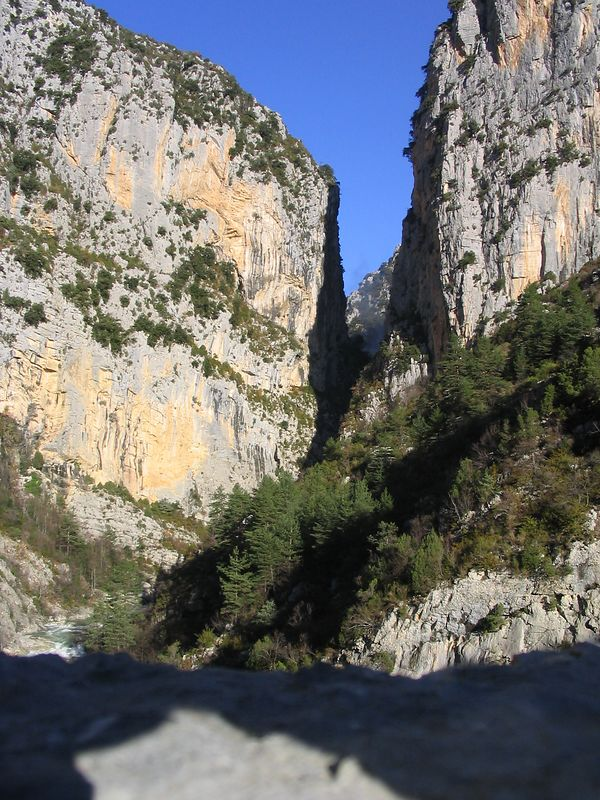 Esteron gorge just after Aiglun
