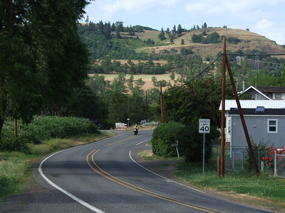 Lovely landscape, looking back up the Klickitat River Road.