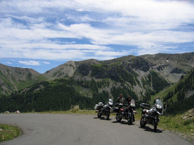 Bikes on the way up to the Col de la Bonette 10/07/04