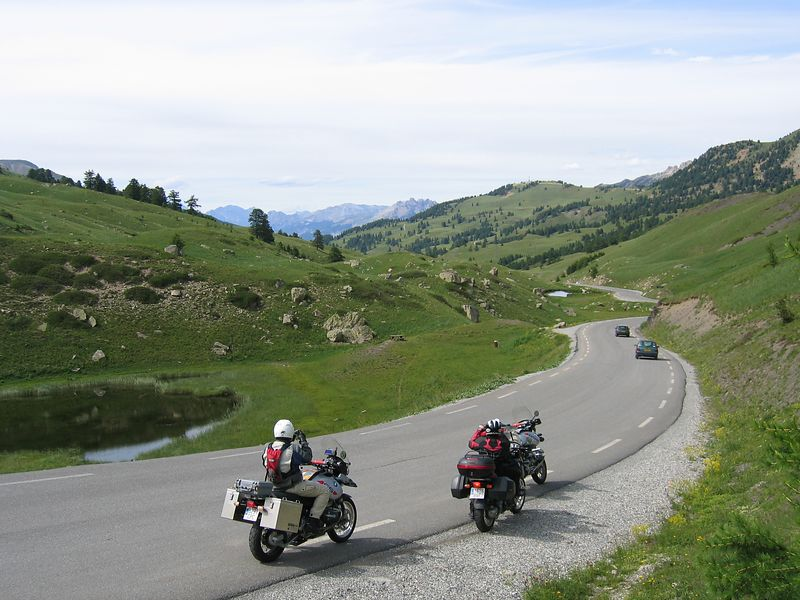 Over the Col du vars to the north side 10/7/04