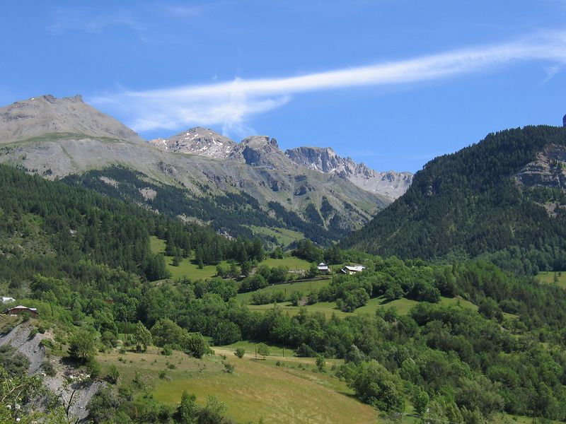 Looking down the col de vars (south side) 10/07/04