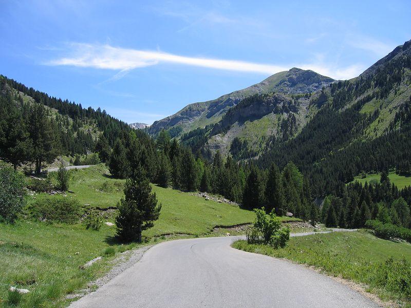 descending the Bonette towards Jausiers 10/7/04
