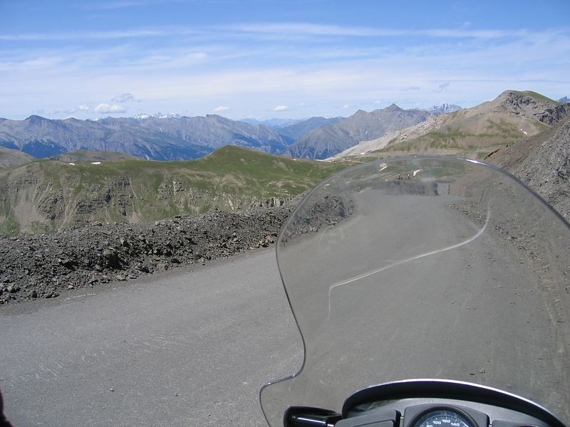 View from the top of the col de la bonette, highest road in europe at over 2800m