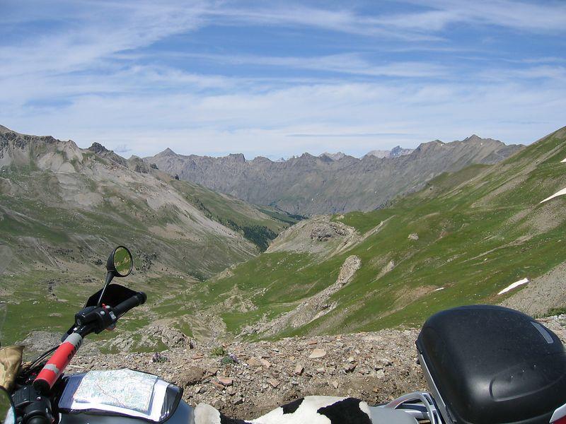 on the way up to the Col de la Bonette 10/07/04
