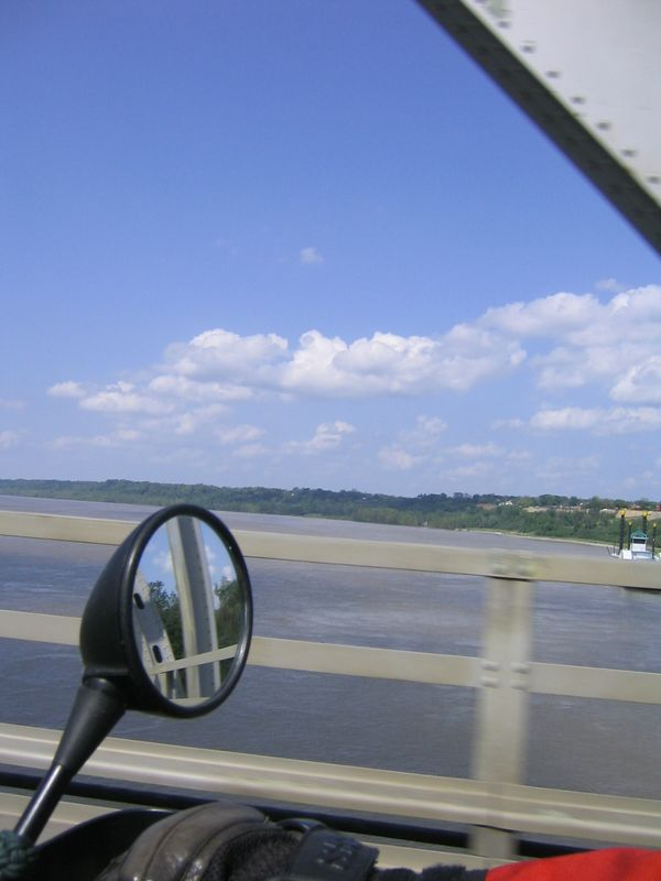 Crossing the Mississippi River at Natchez.