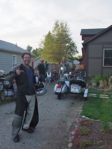 Practically everyone at Charlie's party arrived on two wheels--mostly pedal-powered. Later on someone jumped a Surly mountain bike over a fire pit wearing a gorilla suit...