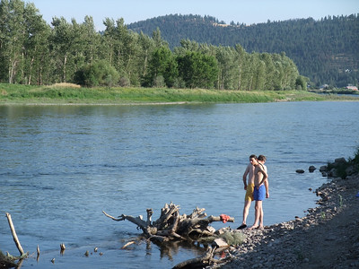 Dani, Eugene and me took a dip in the Clark Fork at Kona Bridge. VERY cold, but so nice after a long hot ride!