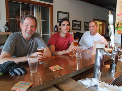 Me, Dani and Eugene enjoying a cold one at the Roslyn Brewery.