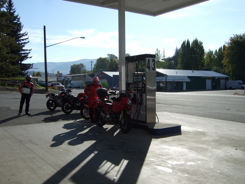 <b>Fill 'er Up</b><br>Takes a while for eight bikes to fill up....