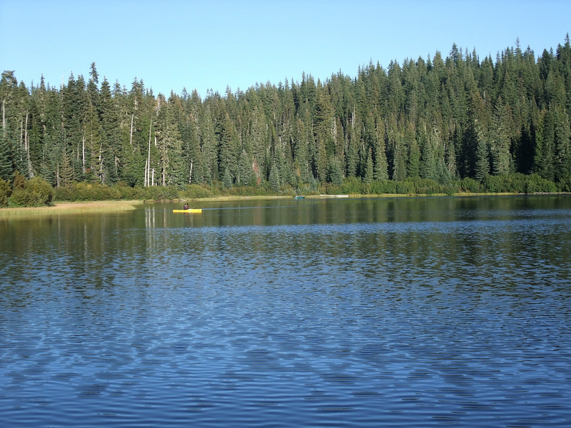 Olallie Lake. Super nice campground here, with a place to put in a canoe.