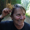 Tina shows off the Coral Mushroom she found.
