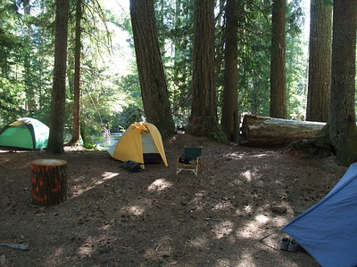 My campsite, by the river.