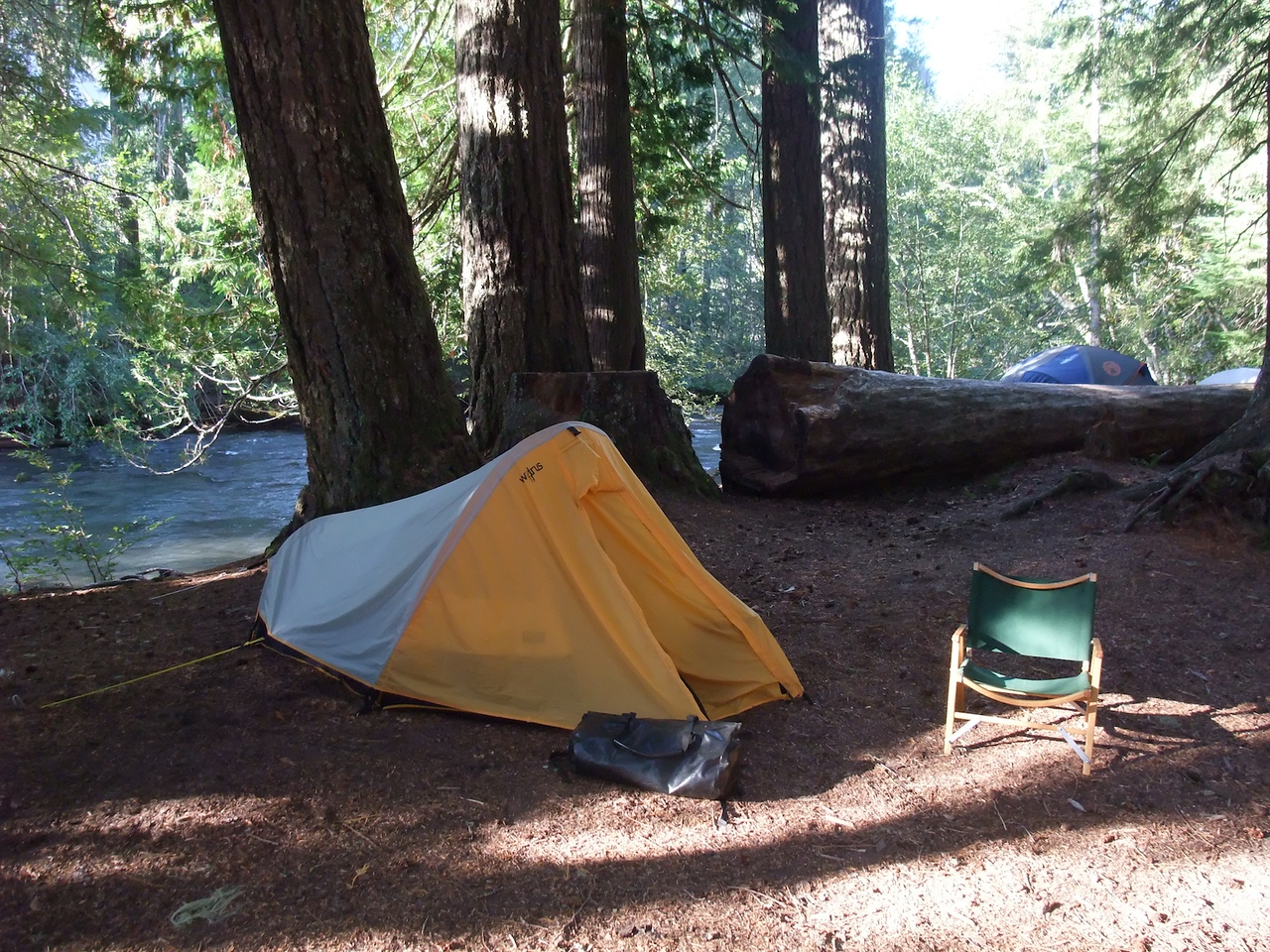 My camp again, in the morning.