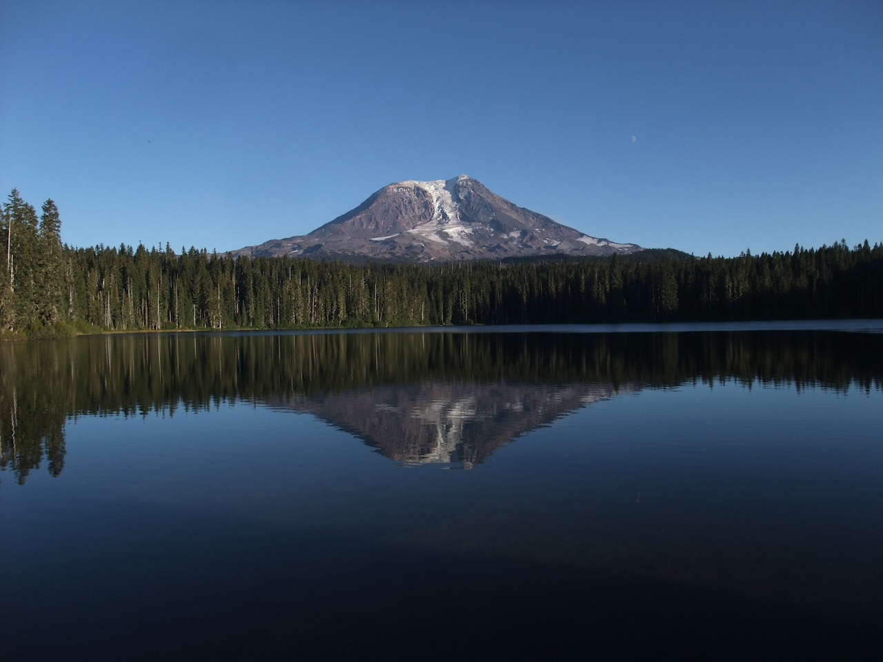 Mt. Adams seen from Takhlakh Lake