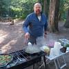 Wayne preparing his famous breakfast burritos.