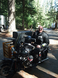 Dave brought a grill (!) on his Guzzi hack, and cooked up a mess of fine ribs.
