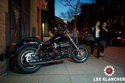 The Triumph Speedmaster on the street in New York.