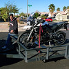Santa's elf delivering my new 2012 Triumph Tiger 800XC on December 24, 2012.