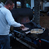 We christened the smoker by making breakfast on the griddle for Friday morning.