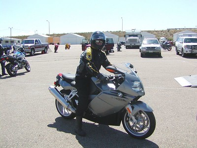 Doug gets ready for take off on the K1200S