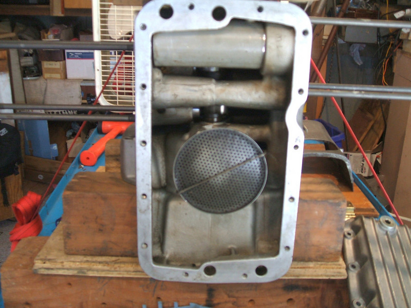 crankcase DURING  steam cleaning