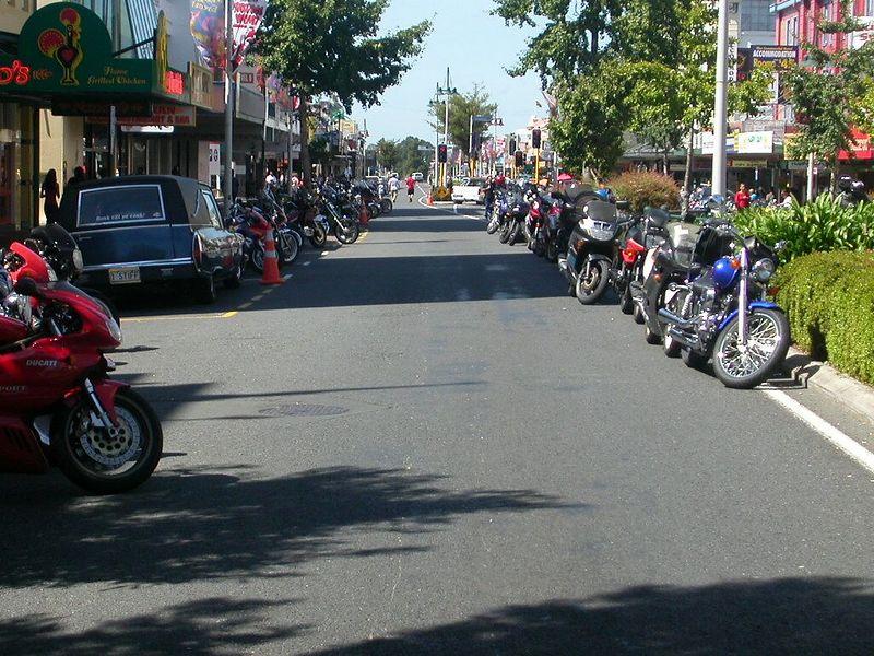 Around a thousand bikes took part.