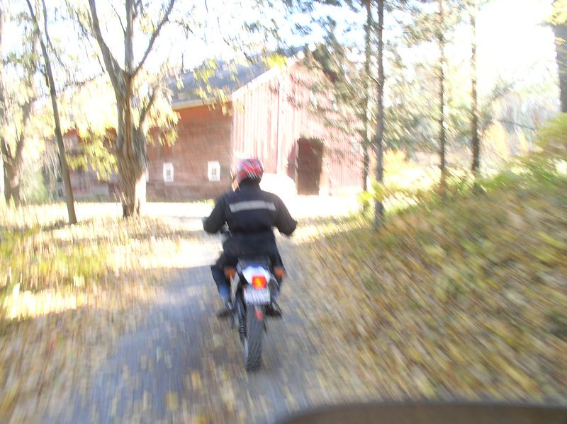 Joy riding (no pun intended) the PD at Hensley's house, October 04