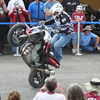 "Chris ""Teach"" McNeil, Freestyle Street Extreme rider, doing his thing.  Photo taken by Sharon from atop their motorhome."