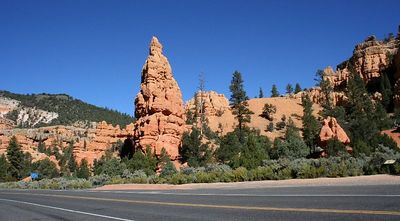 Approaching Bryce Canyon N.P.