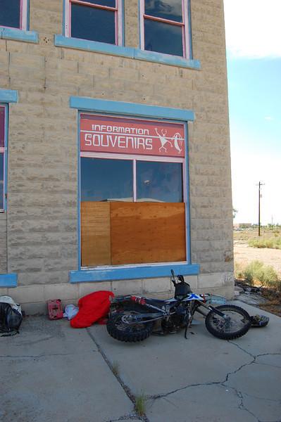 Green River, UT. BMW motorbike service center.