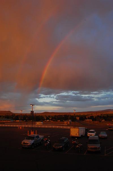 Double rainbow in Jackpot, NV.