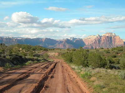 Approaching Zion National Park from the south.