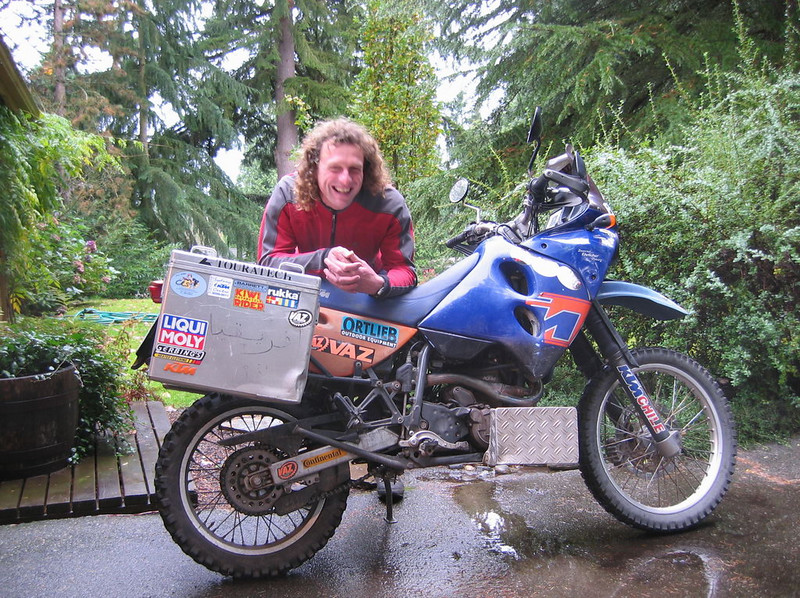 After 6 years of world travel, Uwe and Ramona were in the Seattle area in 2005. Uwe stayed with us for a few weeks. He and Ramona went on to explore Yukon and Alaska, then start the Trans America Trail. Uwe ended up back at his home in Germany in 2006. Both Uwe and Ramona's KTM 640 LC4's had about 95,000 miles on them each!