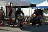 These riders share pit, trailer, etc. however when they get on the track everyone is out for themselves...