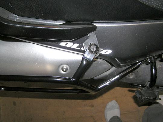 SW Motech rack right side mounting tabb