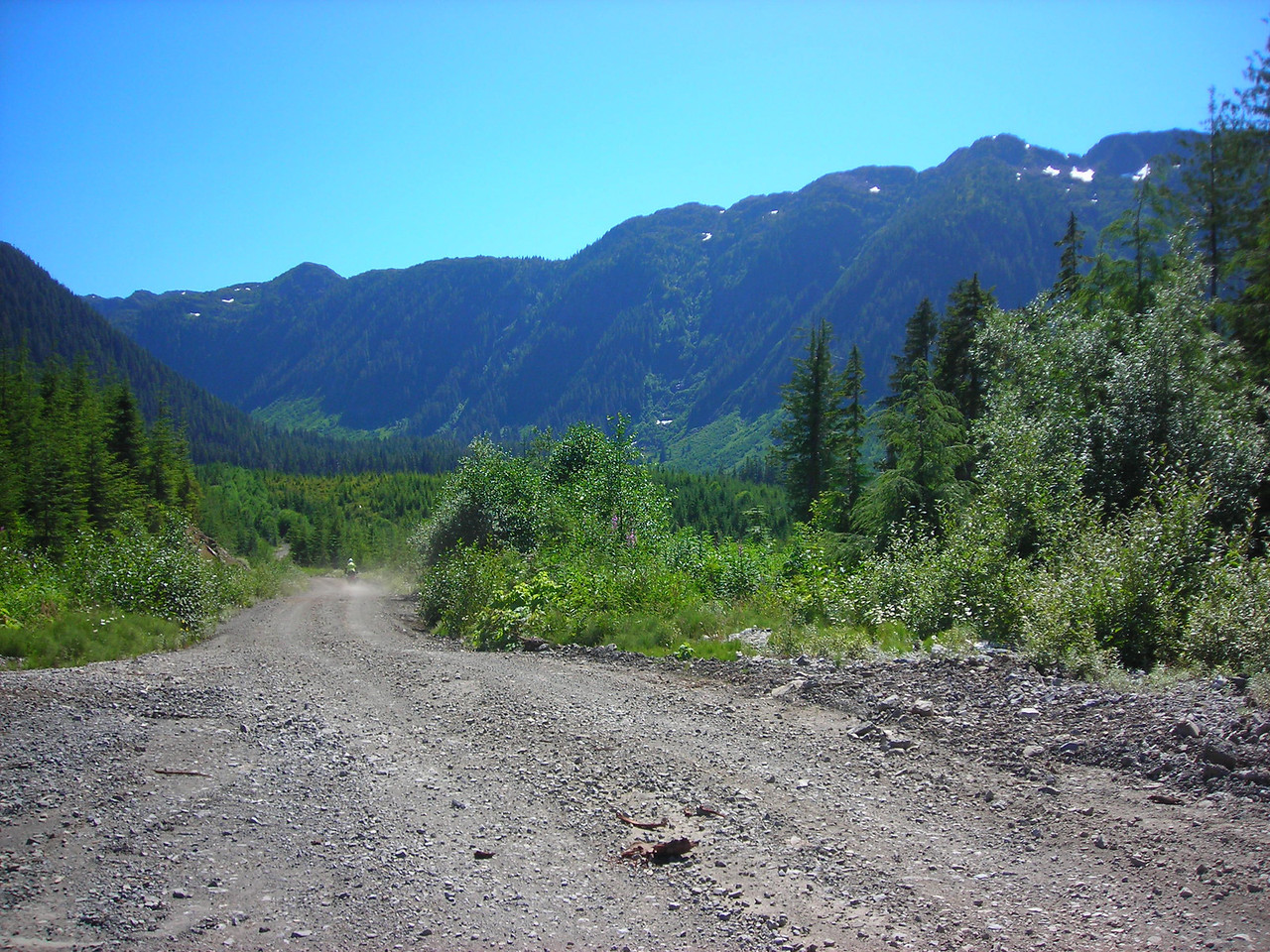 Dennis heads into a culdesac in the mountains of the Tahsish-Kwois wilderness.