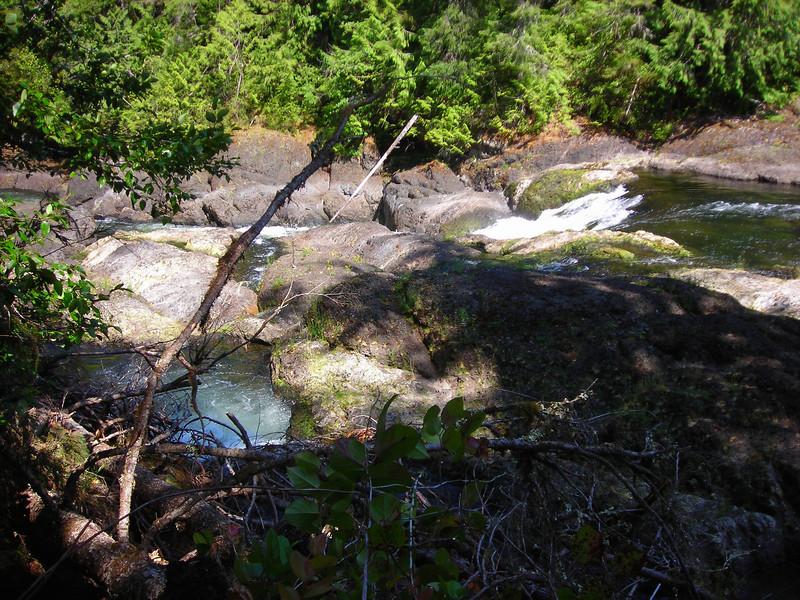 The Marble River tumbles down half a dozen small falls over the rock ledge
