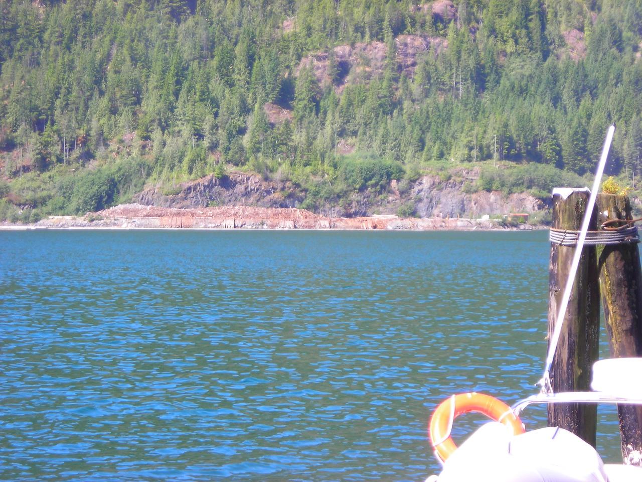 Zeballos has a small rafting dump on the far shore of Zeballos Inlet at Ehatis.