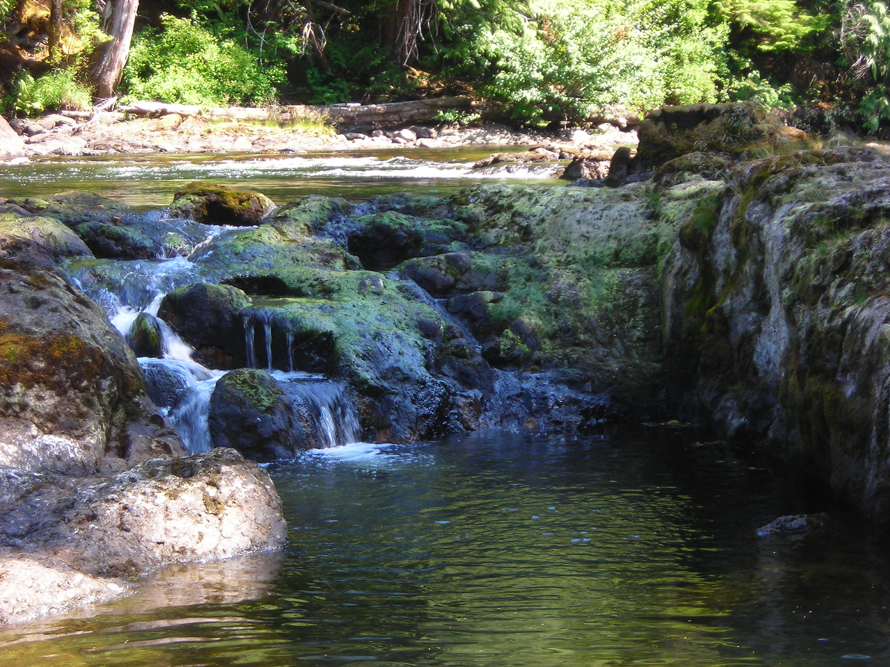 The Marble River begins a series of cascades in the picnic area off of Hwy 30