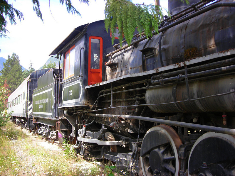 Another view of the locomotive at Woss