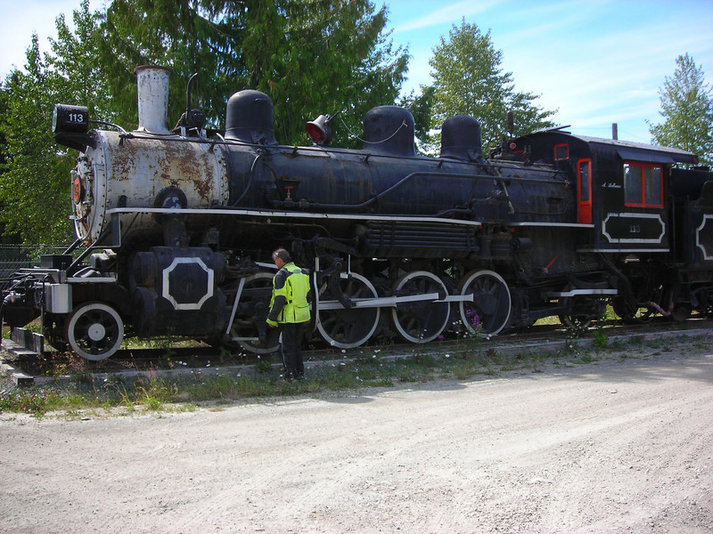 A kind dispatcher let us look over this American Locomotive Works 2-8-2